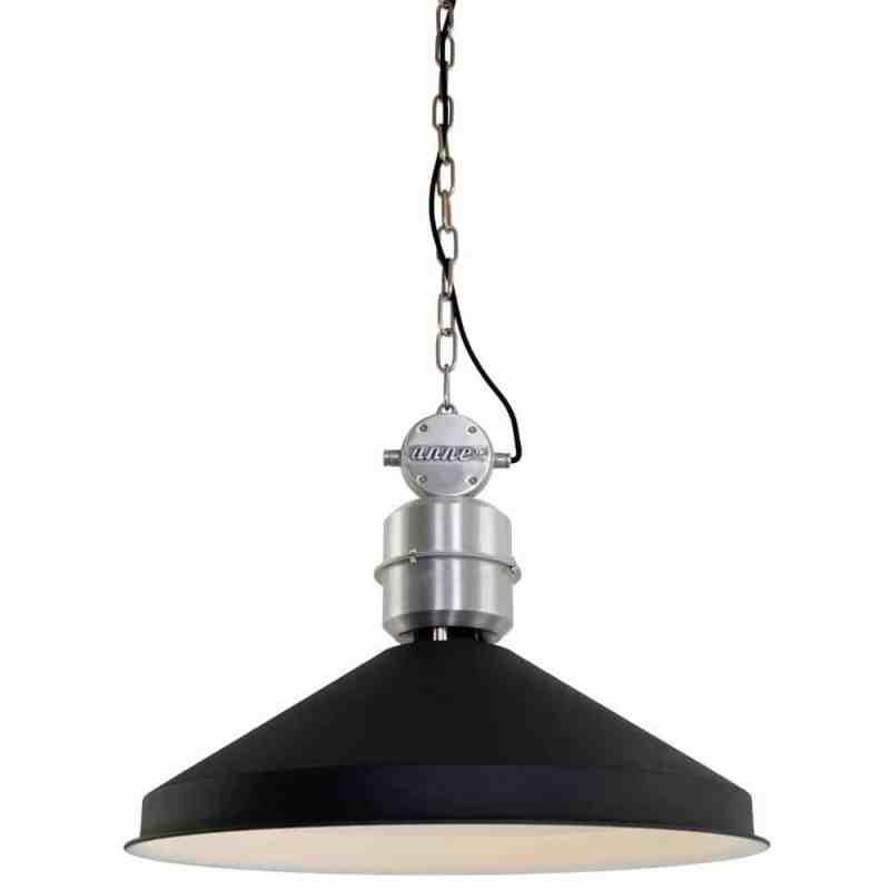 Hanglamp Zappa van Anne Lighting | Stoere industriële hanglamp, in zwart matte coating | industriële woonstijl | www.homeseeds.nl