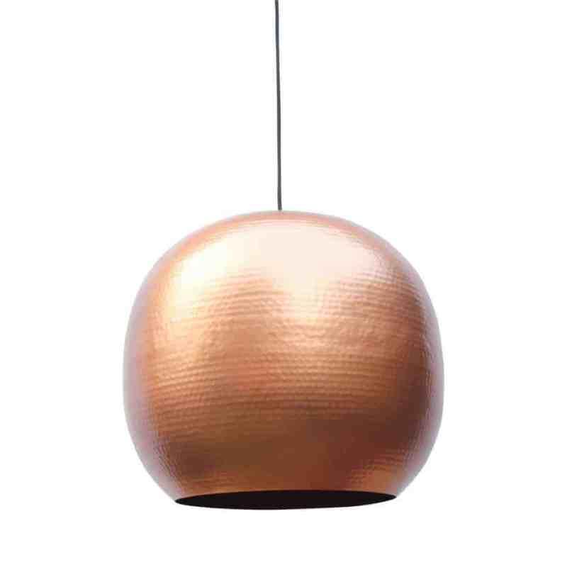 Hippe hanglamp Artisan XL van metaal met een koperen binnenzijde voor een mooi sfeervol licht   verkrijgbaar in drie kleuren en twee maten   www.homeseeds.nl