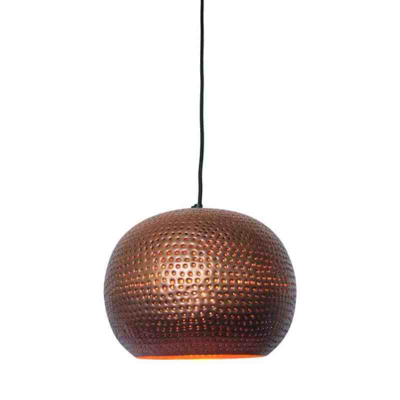 Hanglamp Spike bol ni koper kleur van Urban Interiors   www.homeseeds.nl