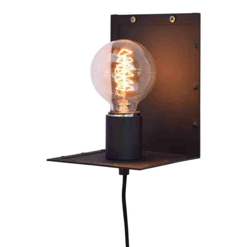 Urban Interiors wandlamp Hook | industrieel retro kooldraad | verlichting bij homeseeds.nl | www.homeseeds.nl