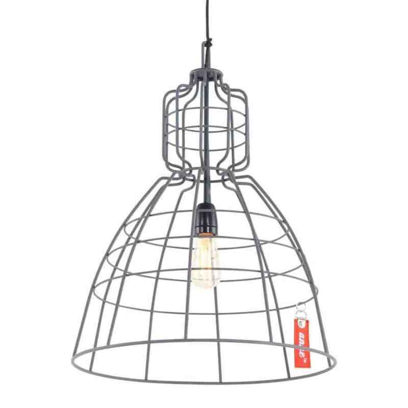 Anne mark III grijs | Stoere hanglamp van draadstaal voor in elk interieur. Geeft veel licht en is ook geschikt voor de kleinere ruimtes