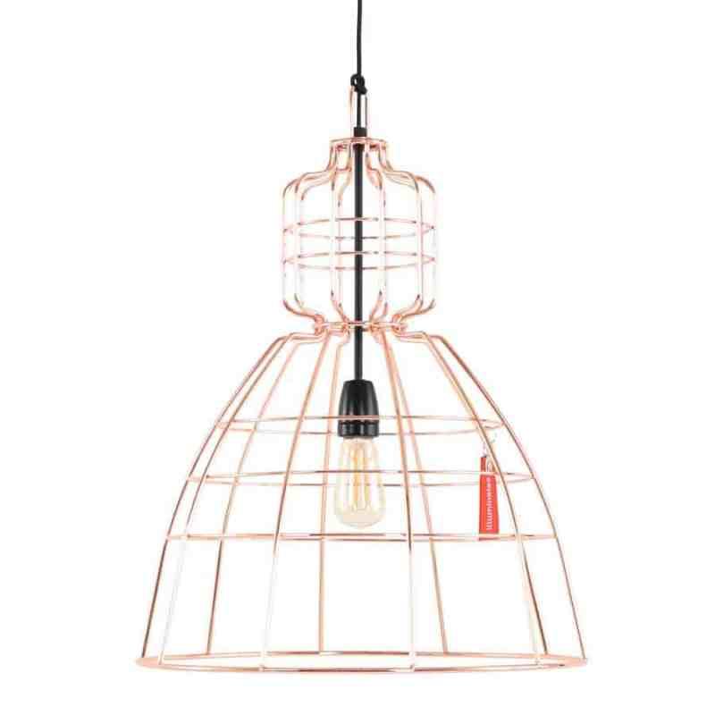 Anne lighting Anne Mark III Koper Hanglamp Draadlamp _ Hang deze steore draadlamp boven de eettafel of in je woonkamer!