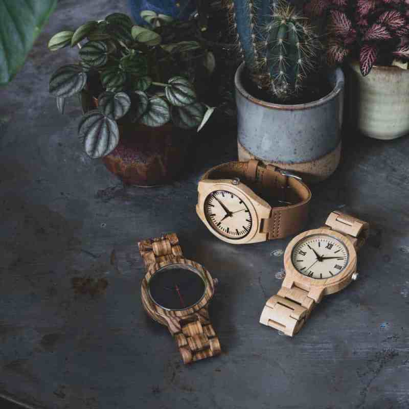 bamboe horloges heren   Homeseeds.nl