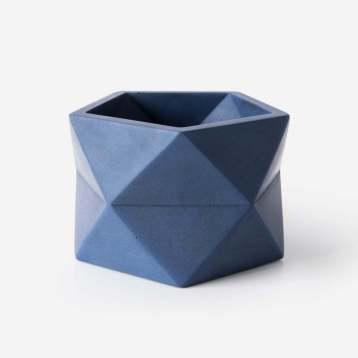 geometrische bloempot van beton