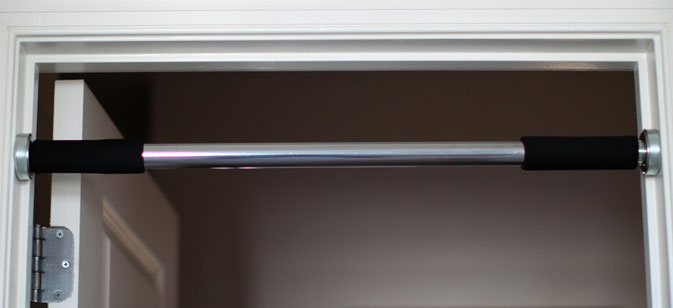 Door frame pull up bars home shredded for Door frame pull up bar