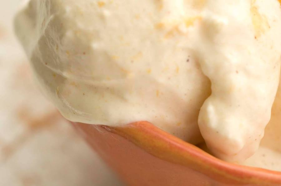 Buttermilk peach ice cream  | Homesick Texan