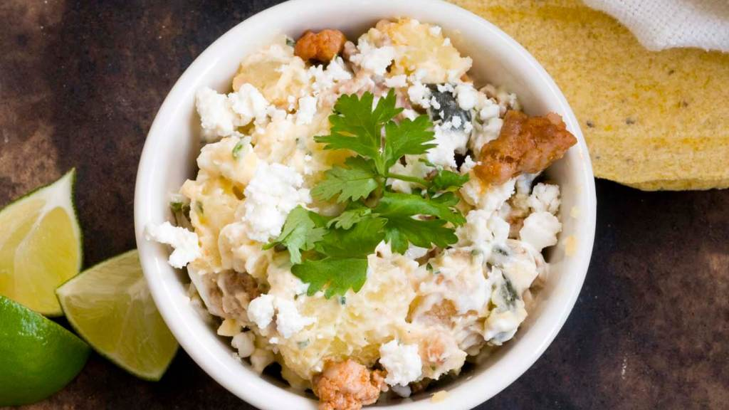 Poblano chorizo potato salad | Homesick Texan