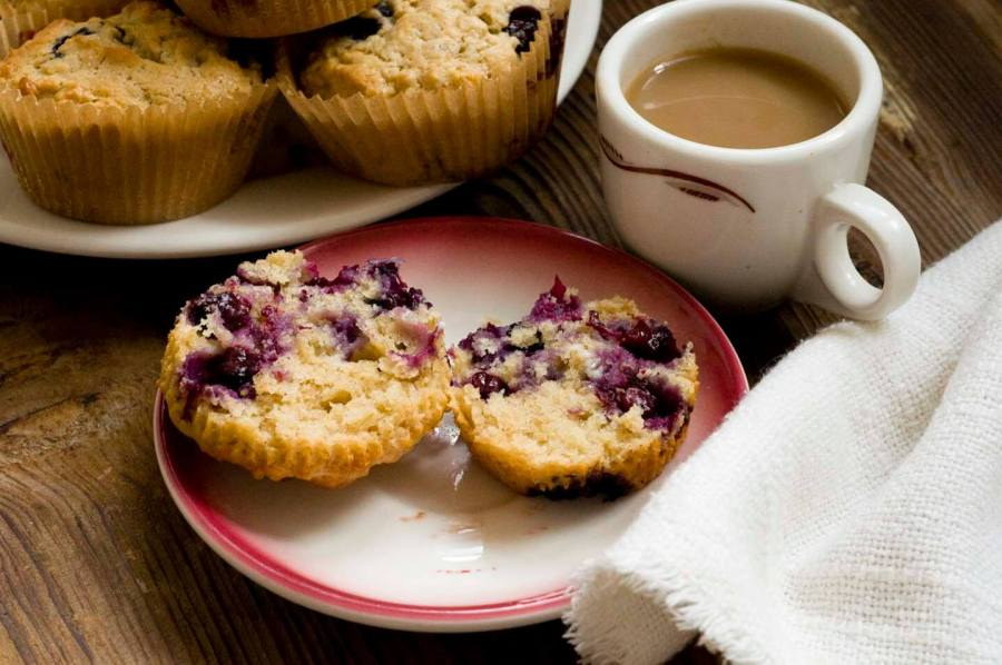 Blueberry lime oatmeal muffins | Homesick Texan