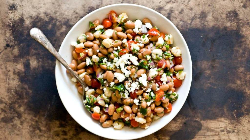 Pinto bean and hominy salad | Homesick Texan
