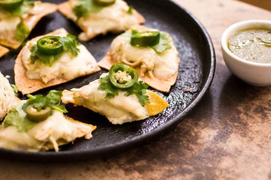 Sour cream chicken nachos with poblano salsa verde   Homesick Texan