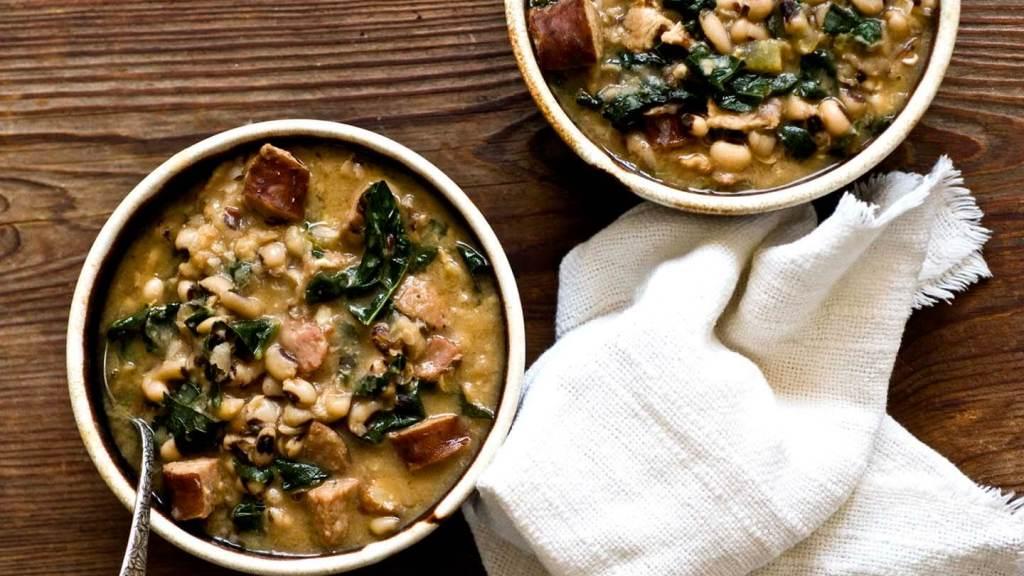 Smoky black-eyed pea and sausage soup | Homesick Texan