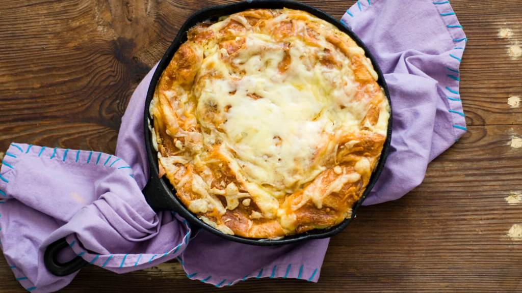 Ham and cheese croissant casserole | Homesick Texan