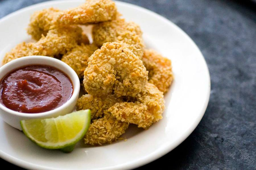 Tortilla-crusted shrimp | Homesick Texan