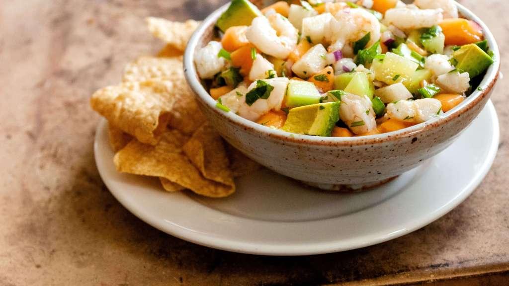 Cantaloupe and shrimp ceviche | Homesick Texan