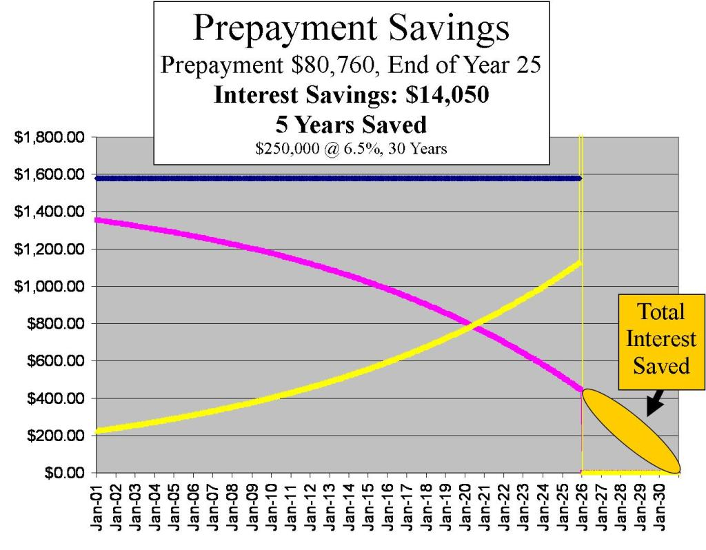 4.  Prepayment Savings Yr 25