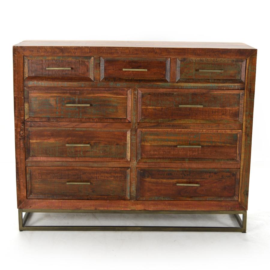 marshall 9 drawer dresser reclaimed wood