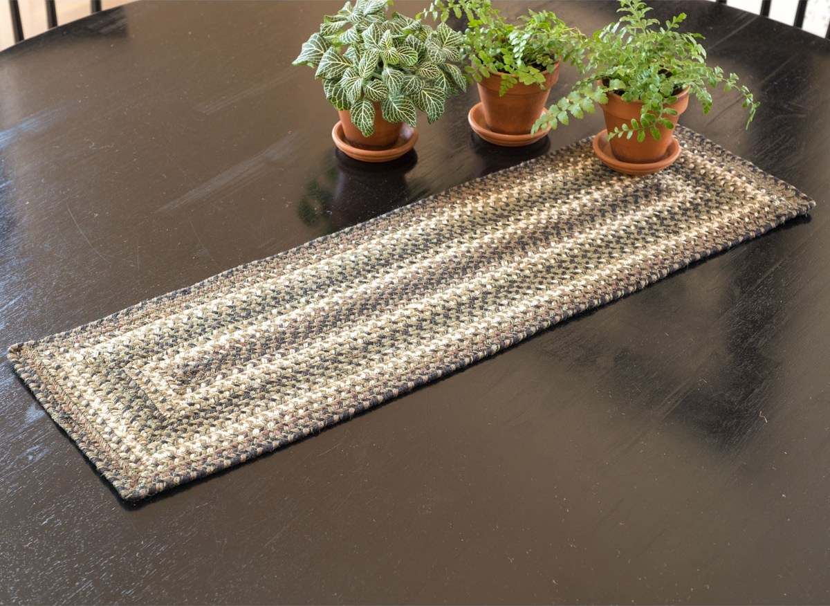 Buy Pinecone Jute Stair Tread Or Table Runner Online Homespice | Stair Treads And Runners | Non Slip | Mat | Treads Carpet | Bullnose Carpet Runners | Staircase