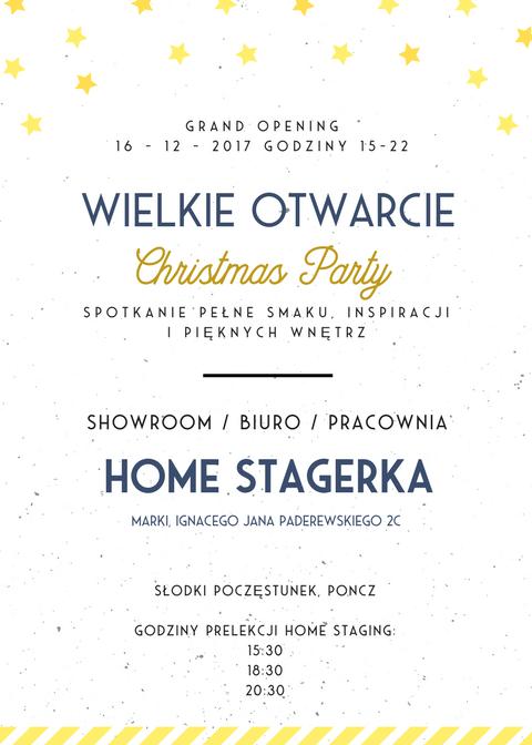 wielkie otwarcie christmas party HOME STAGERKA