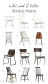 Metal Wood And Leather Dining Chairs For The Modern Farmhouse