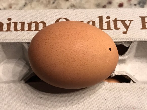 cracked egg not candeled