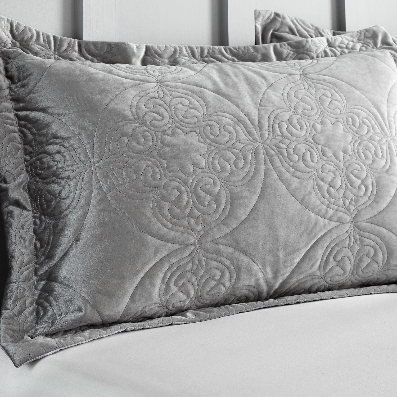mandala pillowshams 50x75cm silver 078910