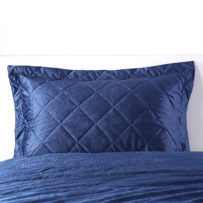 allegra pillowshams 50x75cm navy 110565