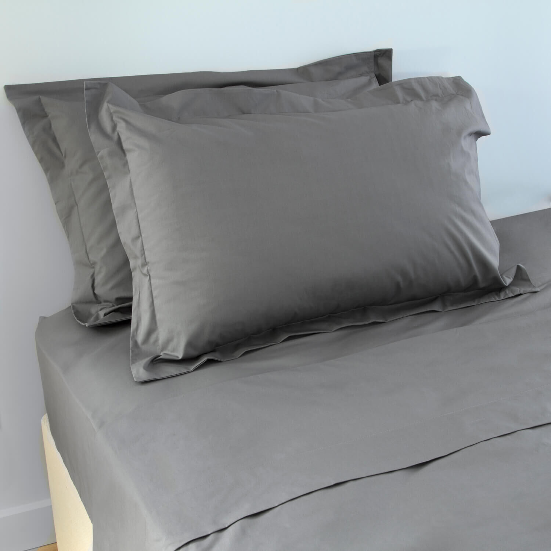 200tc cotton oxford pillowcase pair grey 070427