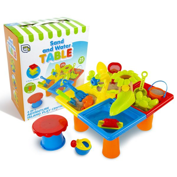 Box and contents of sand and water table
