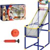 basketball net with ball and pump in colour gift box