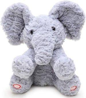 Peekaboo Elephant Dual-Function Plush: 23cm
