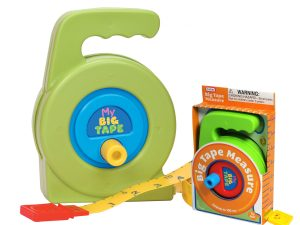 My First Big Tape Measure Toy in Box green and red, green and blue tape measures