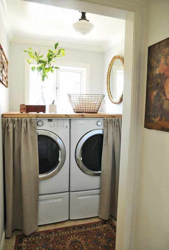 25 Small Laundry Room Ideas Cover for laundry machines