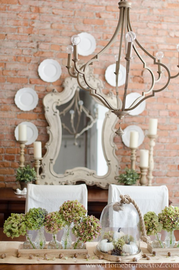 How to Decorate with Plates on a Wall fall dining room 6