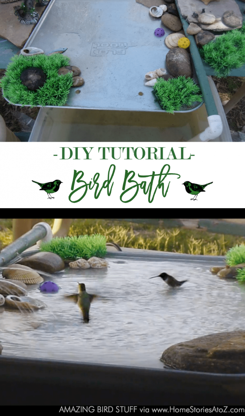 DIY bird bath tutorial