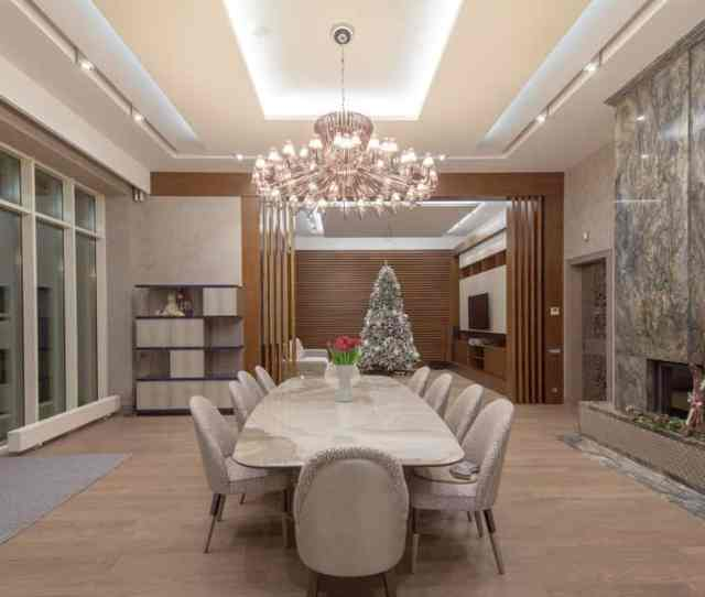 Large  Person Dining Room Table In Large Formal Dining Room In Luxury Home