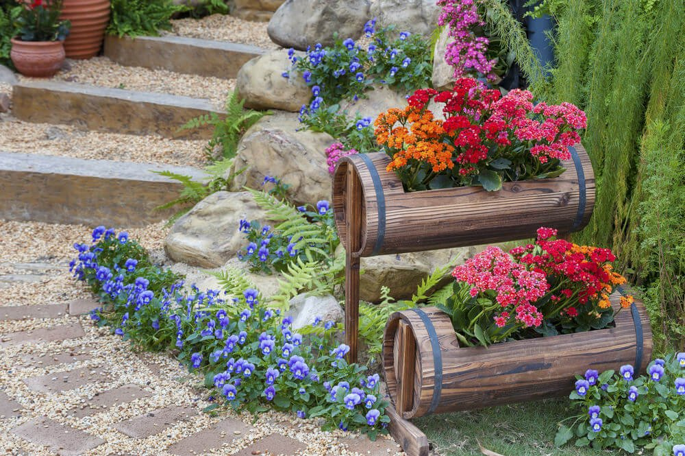 64 Outdoor Steps With Flower Planters And Pots Ideas Pictures Home Stratosphere