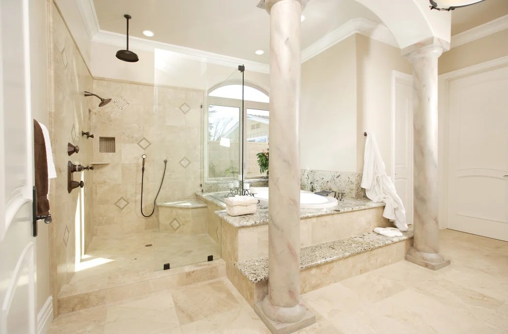 45 Master Bathrooms With Open Showers For 2019