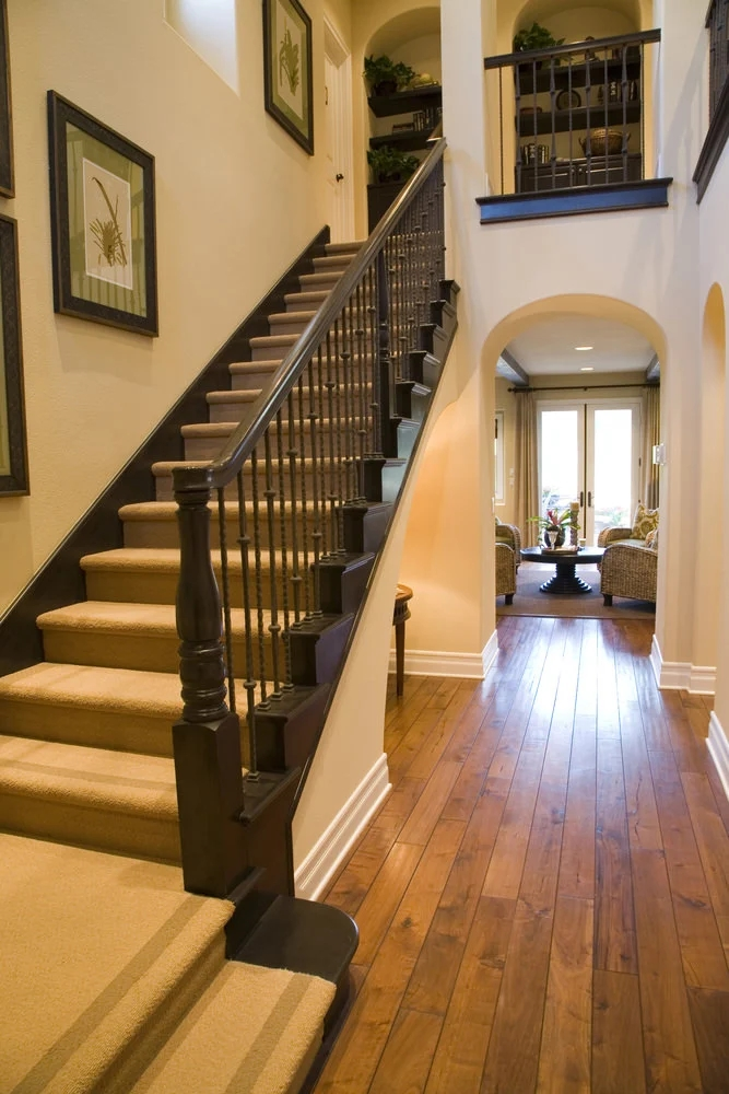 70 Staircases With Carpet Floors Photos | Hardwood Floors With Carpeted Stairs | Wall To Wall Carpet | Painting | Laminate Hall Carpet | Carpet Covered | Carpet Wrapped