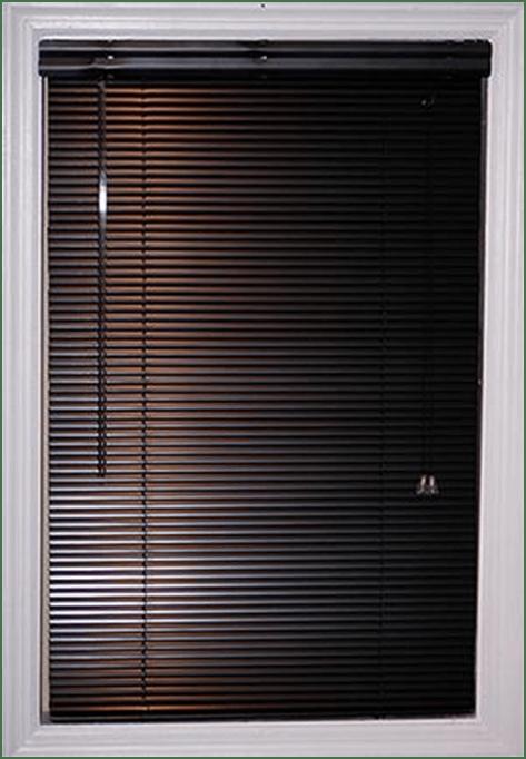 Dark brown micro blinds