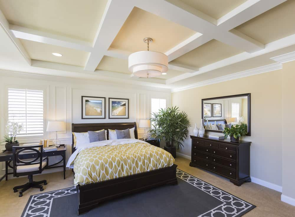 Yellow And White Master Bedroom