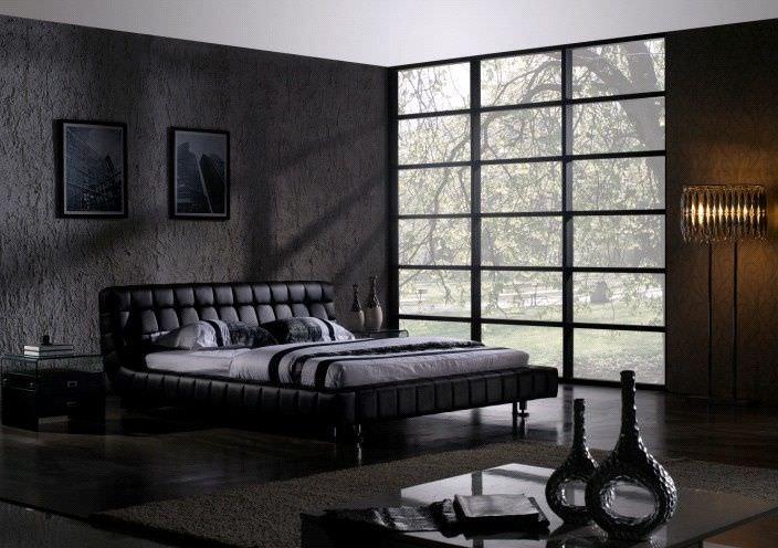 excellent dark bedroom design