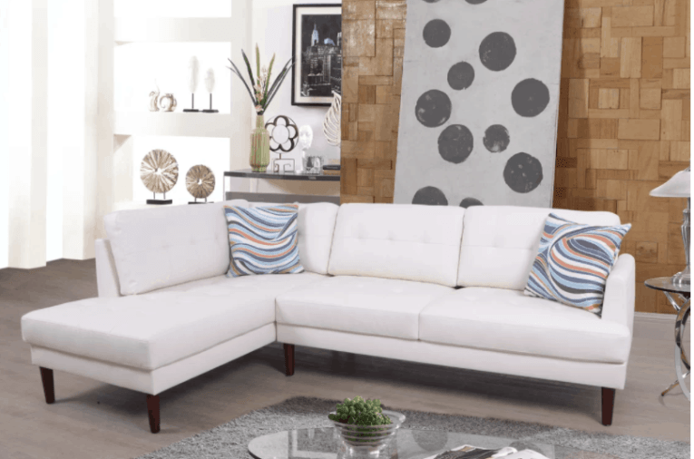 75 Modern Sectional Sofas for Small Spaces  2018  Compact white sectional sofa