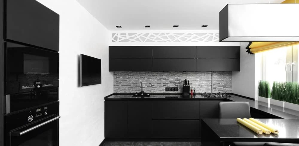 53 Fantastic Kitchens With Black Appliances PICTURES