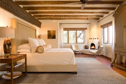 Beige and brown master bedroom.
