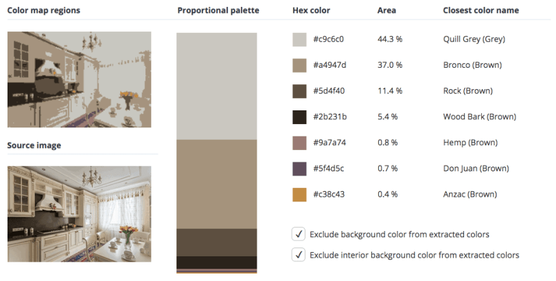 Beige combined with grey and a touch of brown.