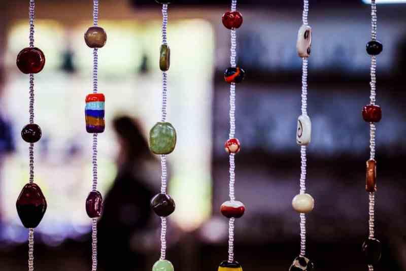 Decorative hanging beads.