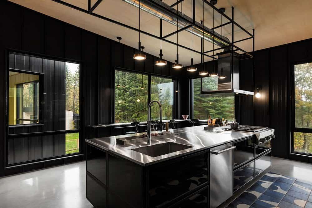 40 Sleek Black Kitchen Ideas And Cabinets 2020 Photos