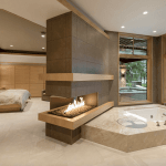 60 Primary Bathrooms With A Fireplace Photos