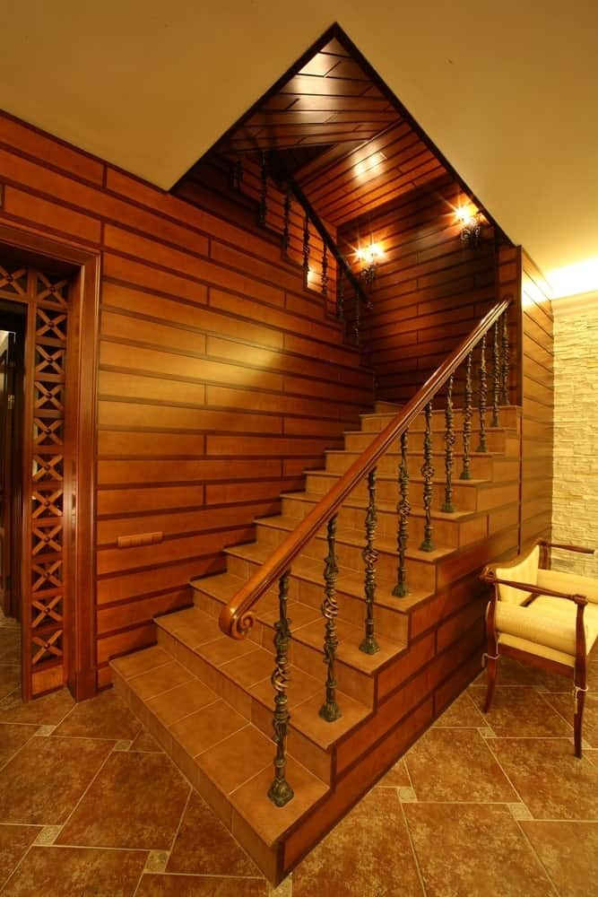 50 Staircases With Tile Flooring Photos | Duplex Stairs Wall Design | Middle Room Interior Design | Attractive | Staircase Wall Panel | Living Room Layout | Bungalow Duplex Indian