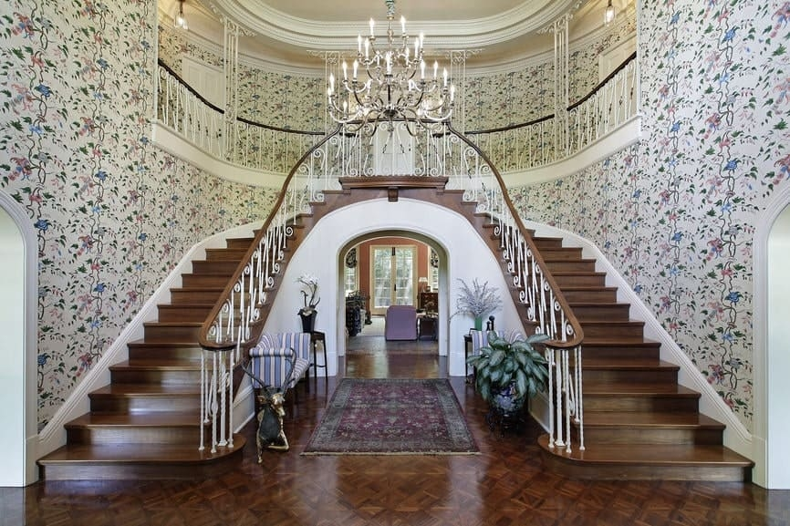 50 Straight Staircase Ideas Photos | Stairs In Middle Of Room Interior Design | 3 Story Staircase | House | Middle Hallway | Private Home | Mixed Interior